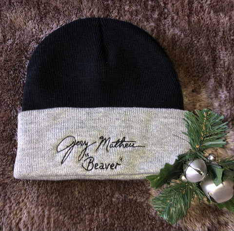 Jerry's Signature Knit Cap (Black and Grey)