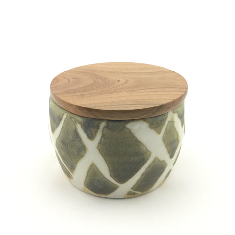 Sustainable Jar for coffee/tea/etc with Two glaze resist design