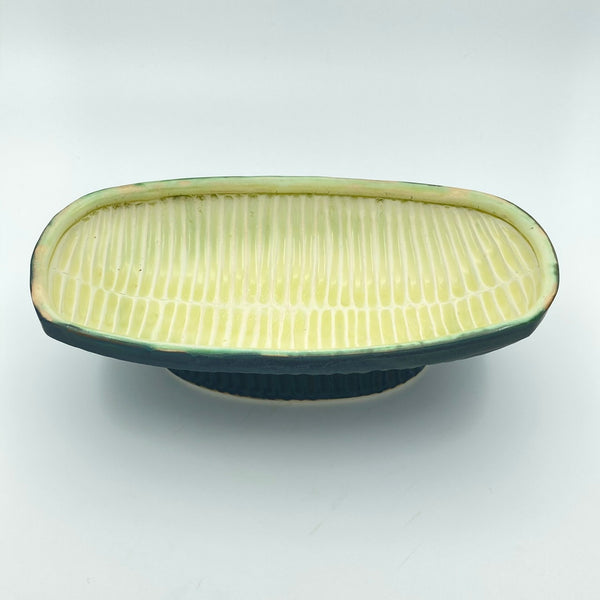Serving Dish with Carved pattern