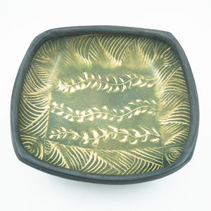 Square Serving Dish with Pattern