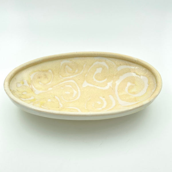 Oval Serving Dish with spiral pattern