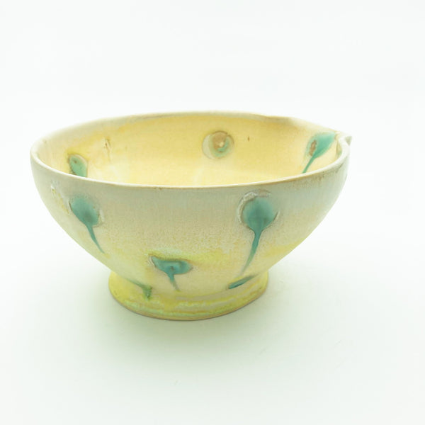 Large Mixing/ Pouring Bowl with Dot Pattern