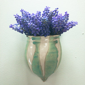 Wall Pocket Vase with Line Pattern