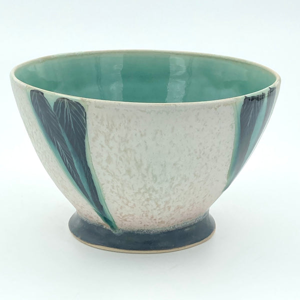 Bowl with Patterned Triangles