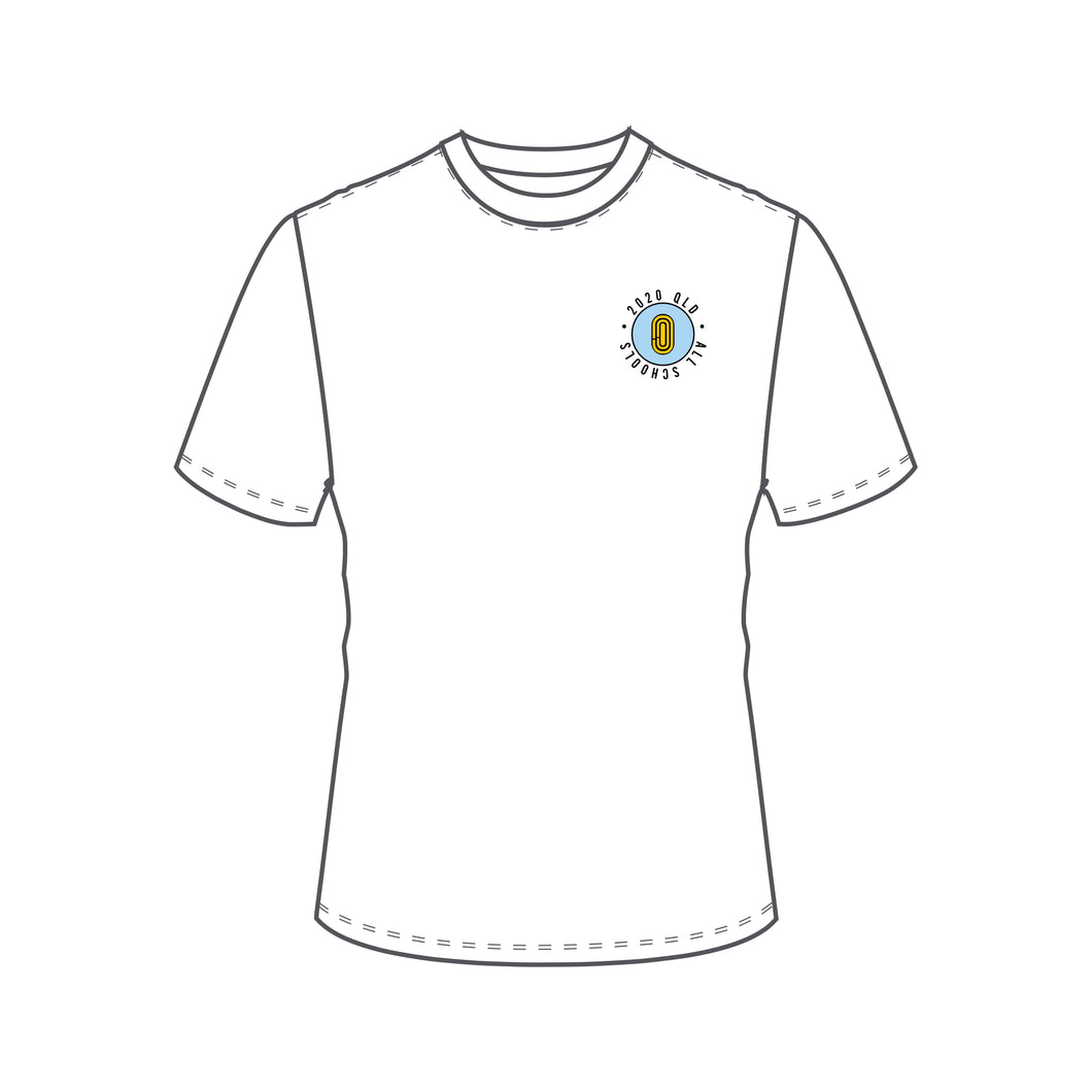 WOMENS ALL SCHOOLS TEE - WHITE