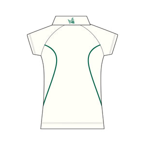 Wynnum CC SS Cream Polo ladies
