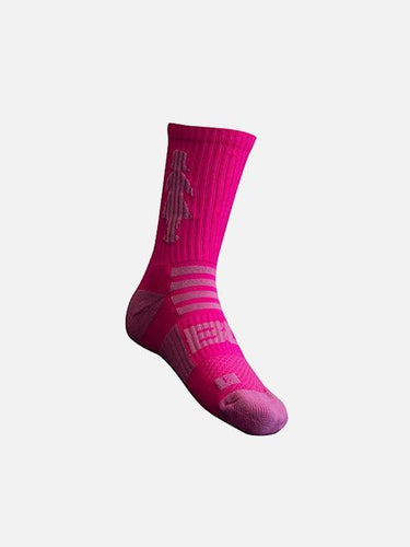 Pink Sports Day Crew Socks Accessory