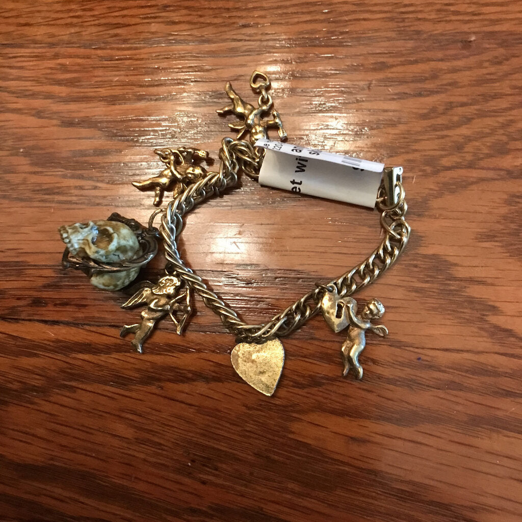 angels and skull bracelet
