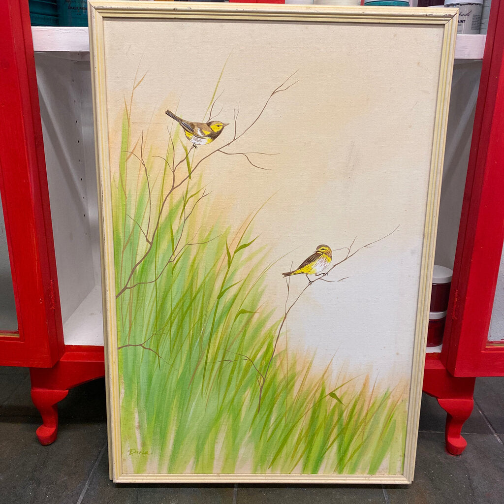 2 little birds large painting