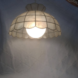 Mid Century Modern Capiz Shell swag light