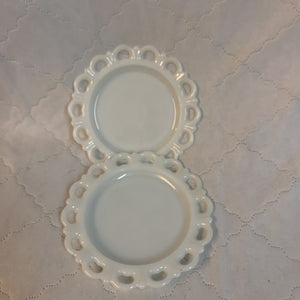 "Vintage Old Colony Lace Edge 8"" Diameter Salad Plates"