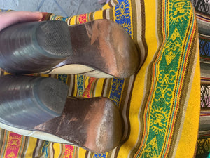 Two toned ropers boots size 5 B