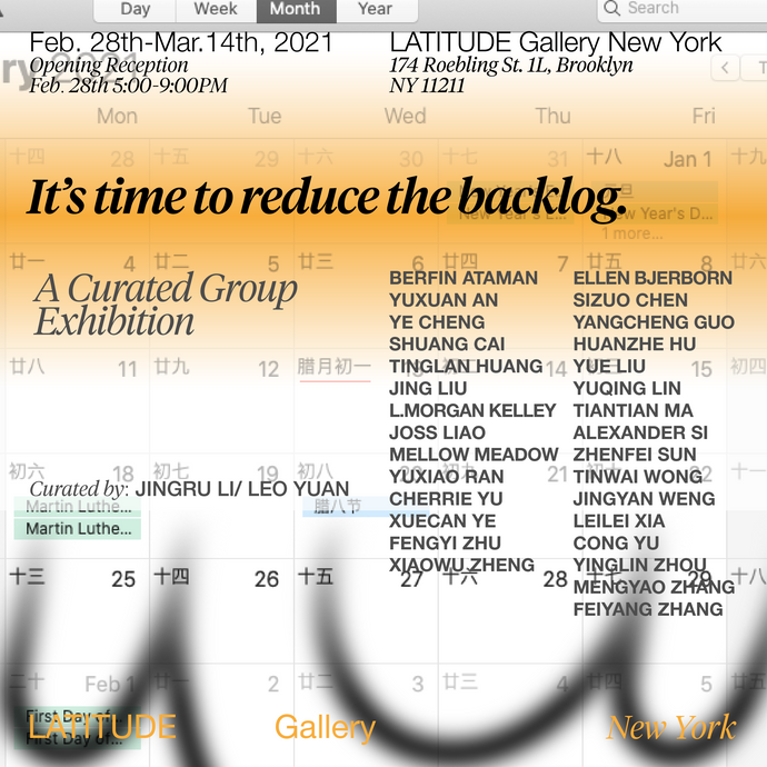 Group Exhibition: It's Time to Reduce the Backlog.