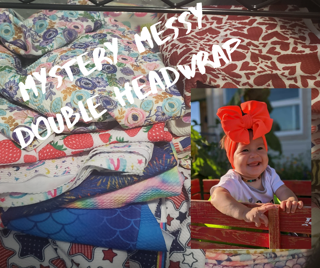 Double Messy Bow Shylyn Headwrap -set of 3