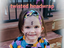 Load image into Gallery viewer, Spider Web Splatter Headwraps -30% Halloween Discount (RTS)