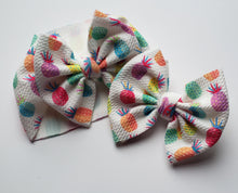 Load image into Gallery viewer, Neon Pineapple Shylyn Bow -40% Spring/Summer Clearout Discount (RTS)