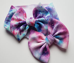 Pink/Purple Galaxy Shylyn Bow -40% Spring/Summer Clearout Discount (RTS)