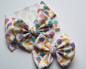 Ice Cream days Headwrap - 40% Spring/Summer Print Discount (RTS)