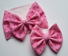 Load image into Gallery viewer, Barbie Pink Polka Dots Headwraps - 40% Spring/Summer Print Discount (RTS)