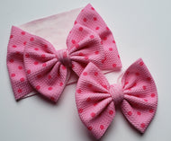 Barbie Pink Polka dot Shylyn Bow -40% Spring/Summer Clearout Discount (RTS)