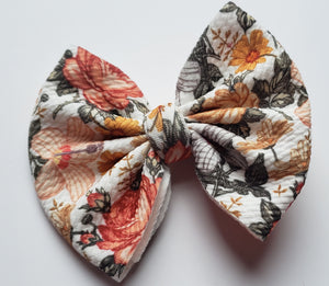 Vintage Fall Floral Shylyn Bow -30% Halloween/Fall Discount (RTS)