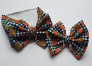 Plaid Pumpkins Shylyn Bow -30% Halloween/Fall Discount (RTS)