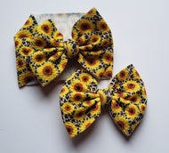 Sunflower Cheetah Shylyn Bow -30% Halloween/Fall Discount (RTS)