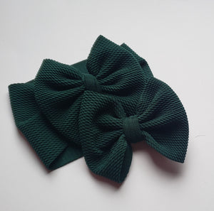 Solid Hunter Green Shylyn Bow