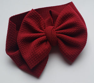 Solid Burgandy Headwraps -20% Solids Discount (RTS)