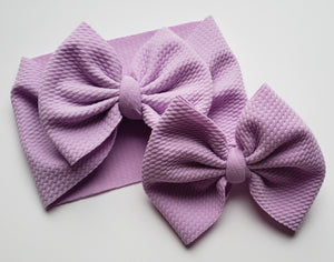 Solid Lilac Headwraps -20% Solids Discount (RTS)