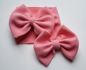 Solid Baby Pink Headwraps -20% Solids Discount (RTS)