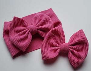 Solid Sweet Pea Pink Headwraps -20% Solids Discount (RTS)