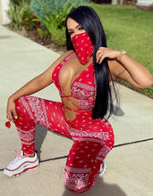 Load image into Gallery viewer, BANDANNA JUMPSUIT W/ MASK