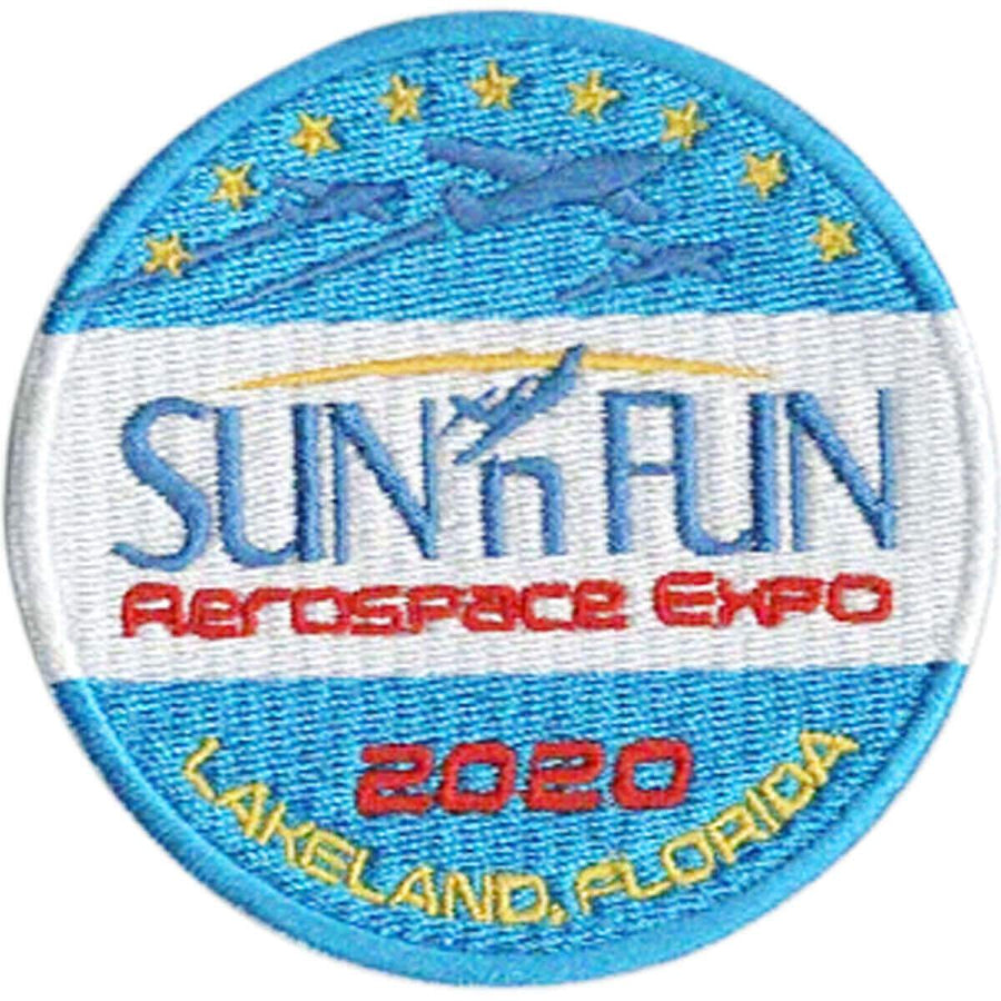 Patch - 2020 SUN 'n FUN Embroidered Patch (Iron On Application)