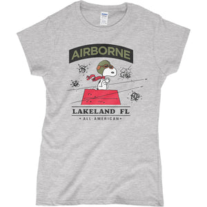 Women's Airborne Snoopy T-Shirt