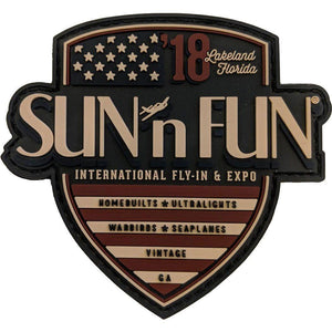 American Badge 2018 SUN 'n FUN PVC Patch Souvenirs SUN 'n FUN