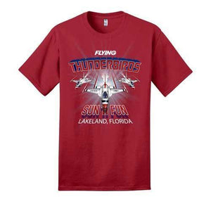 Thunderbirds T-Shirt: Flying Magazine Shirts SUN 'n FUN Medium Red