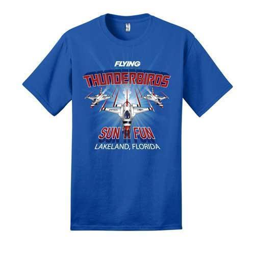 Thunderbirds T-Shirt: Flying Magazine Shirts SUN 'n FUN Medium Royal