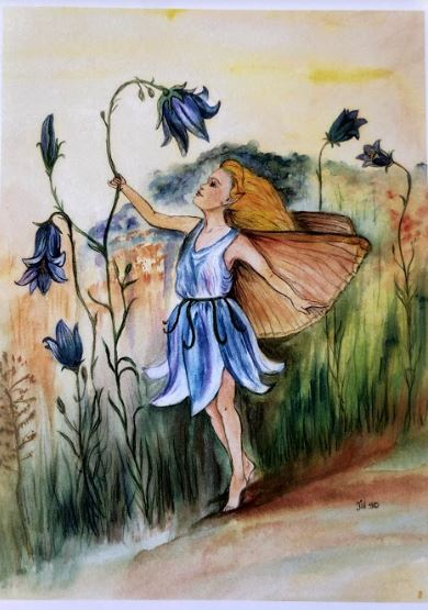 Greeting Card- Blue Bells of Scotland Fairy