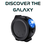 Galaxy projector in black matte finish with green led