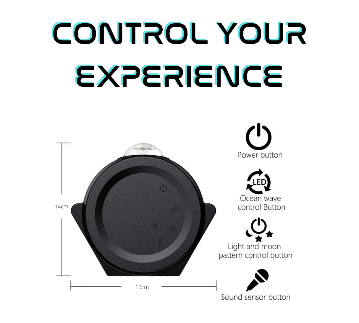 Galaxy projector 4 control buttons