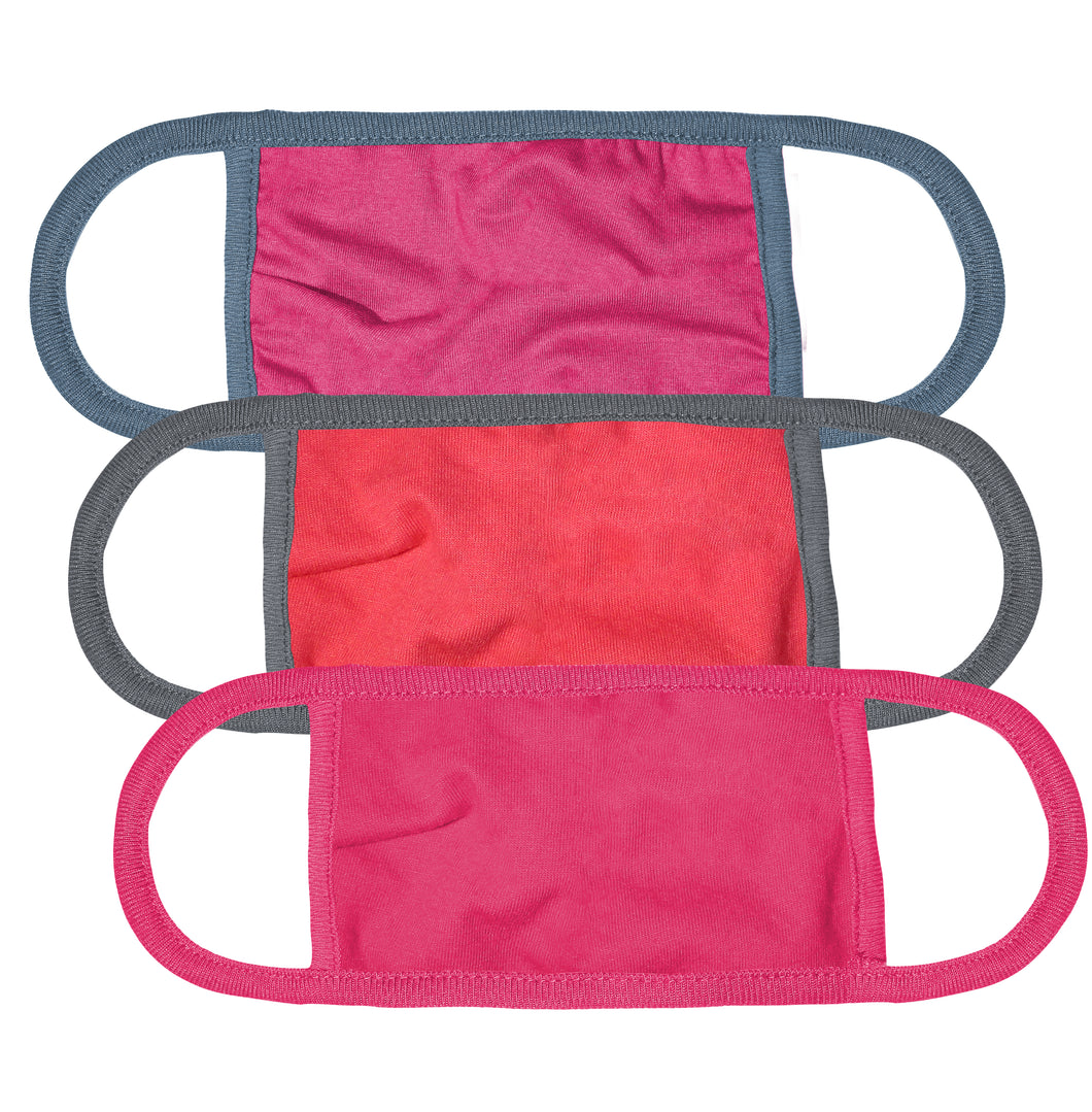 Kingsted Face Covers - 3 for $18 (Adult, Pinkish Pack)