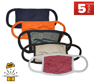 Kingsted Face Covers- Surprise Pack - 5 for $25 (Assorted Colors) 50/50 Blend