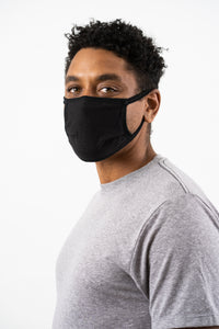 Kingsted Face Covers - 5 for $25 (Adult, Blue/Grey) 50/50 Blend
