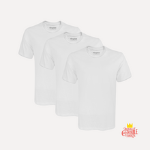 Load image into Gallery viewer, White T-Shirt 3-Pack