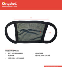 Load image into Gallery viewer, Kingsted Face Covers - 5 for $25 (Adult, Green) Triblend