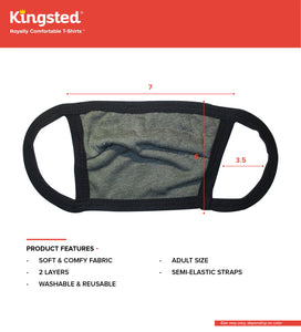 Kingsted Face Covers - 5 for $25 (Adult, Green) Triblend
