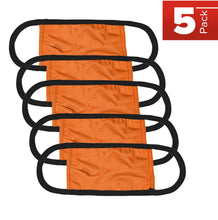 Load image into Gallery viewer, Kingsted Face Covers - 5 for $25 (Adult, Orange/Black) 50/50 Blend