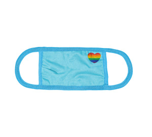 Kingsted Pride Rainbow Heart Face Cover (Blue)