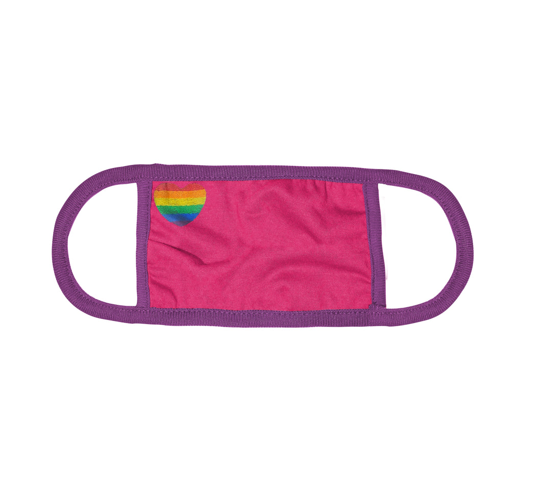 Kingsted Pride Rainbow Heart Face Cover (Pink/Purple)